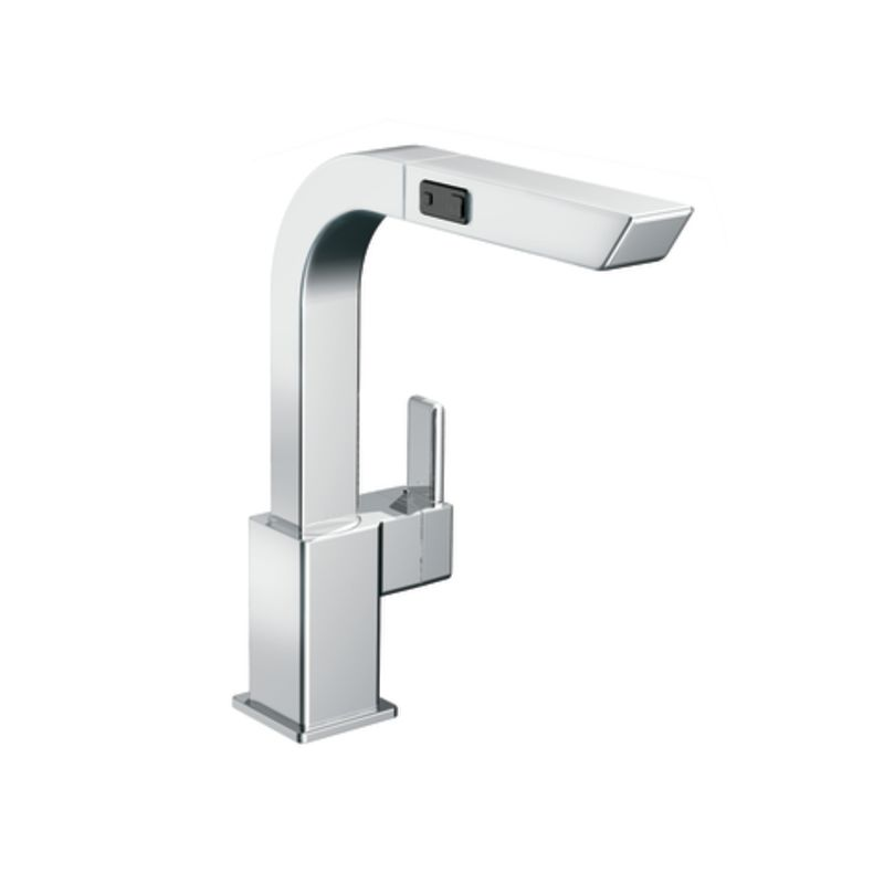 Moen S7597C Chrome Pullout Spray High Arc Kitchen Faucet From The 90 Degree  Collection   Faucet.com