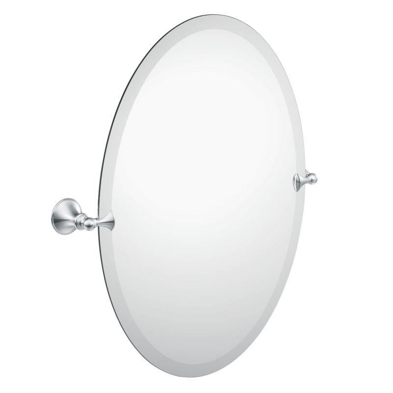 Moen Csidn2692bn Brushed Nickel 26 Tall Tilting Oval Mirror From The Glenshire Collection Faucetdirect
