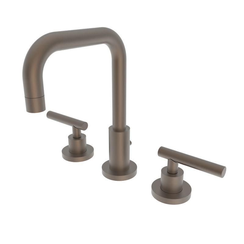 Newport Brass 1400L/06 Antique Brass East Square Double Handle Widespread Lavatory Faucet with Metal Lever Handles - Faucet.com