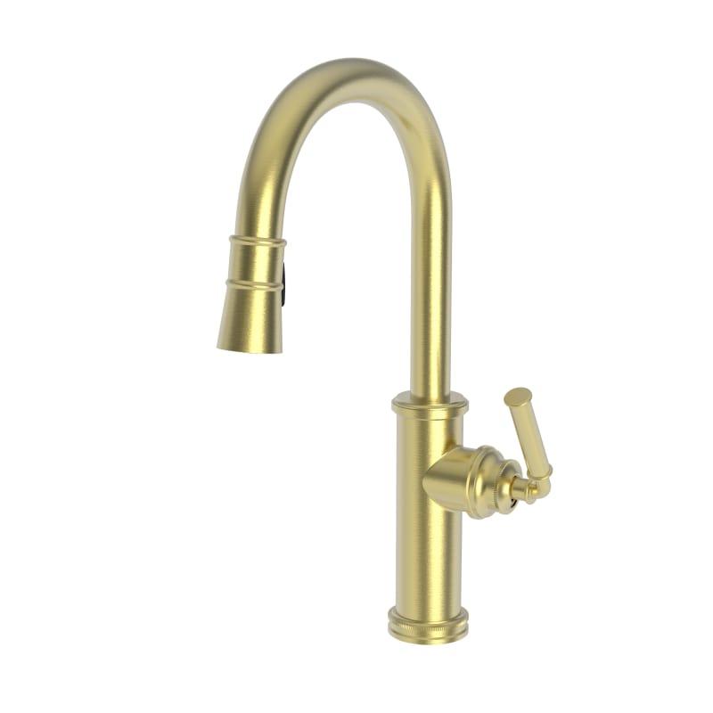 newport brass faucets chrome newport brass 2940510304 satin pvd taft 18 gpm single hole pulldown kitchen faucet faucetcom