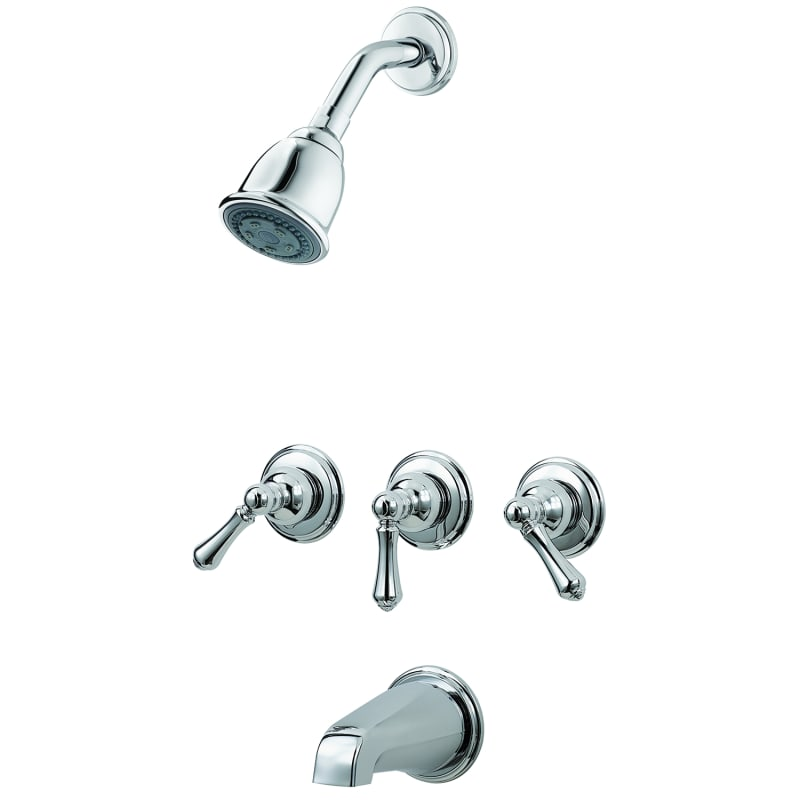 Pfister G01-81BC Polished Chrome Tub and Shower Trim Package with ...