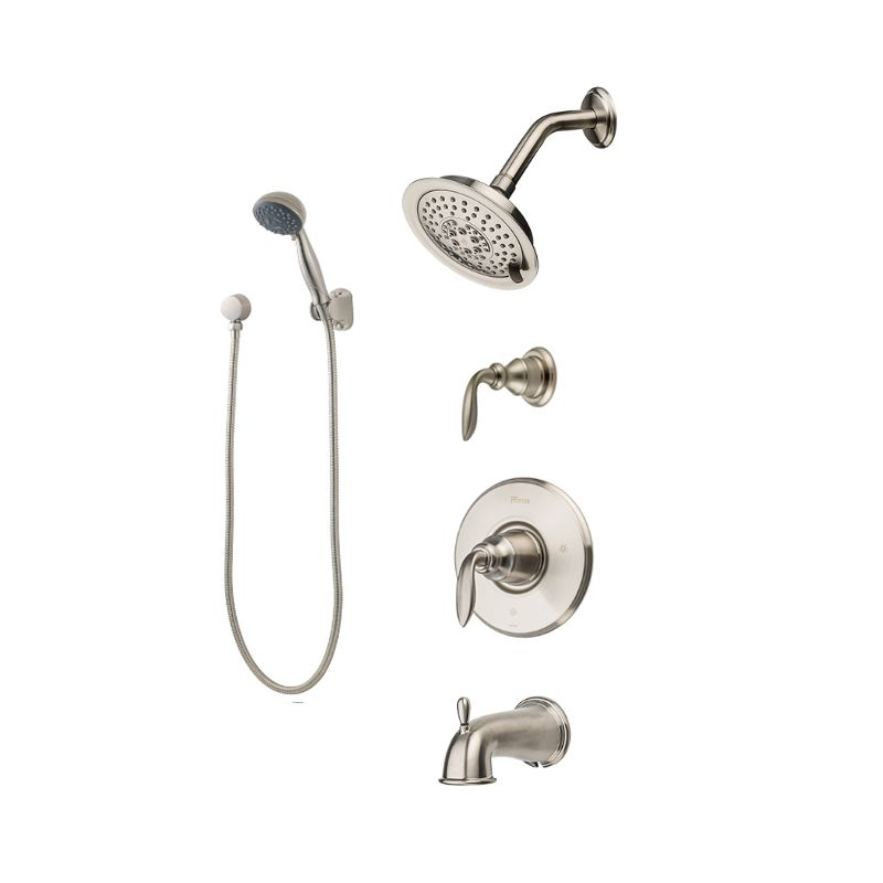 Pfister T89-8CBK Brushed Nickel Avalon Shower System with Valve Trim ...