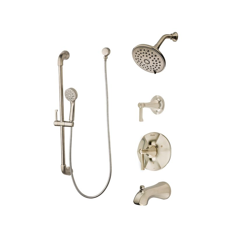 Pfister T89-8DEC Polished Chrome Arterra Shower System with Valve ...