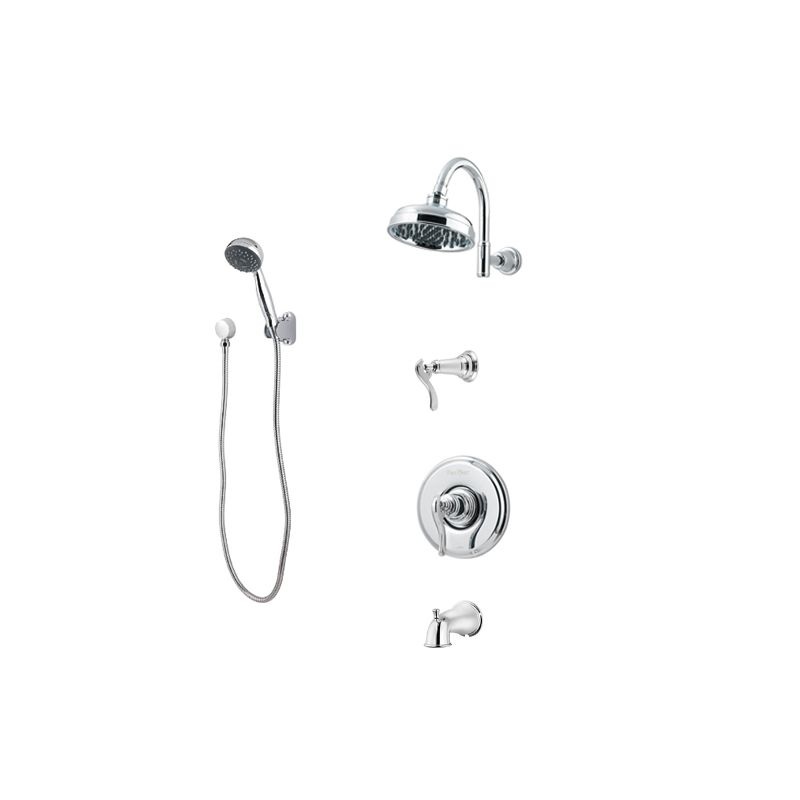 Pfister T89-8YPY Tuscan Bronze Ashfield Shower System with Valve ...
