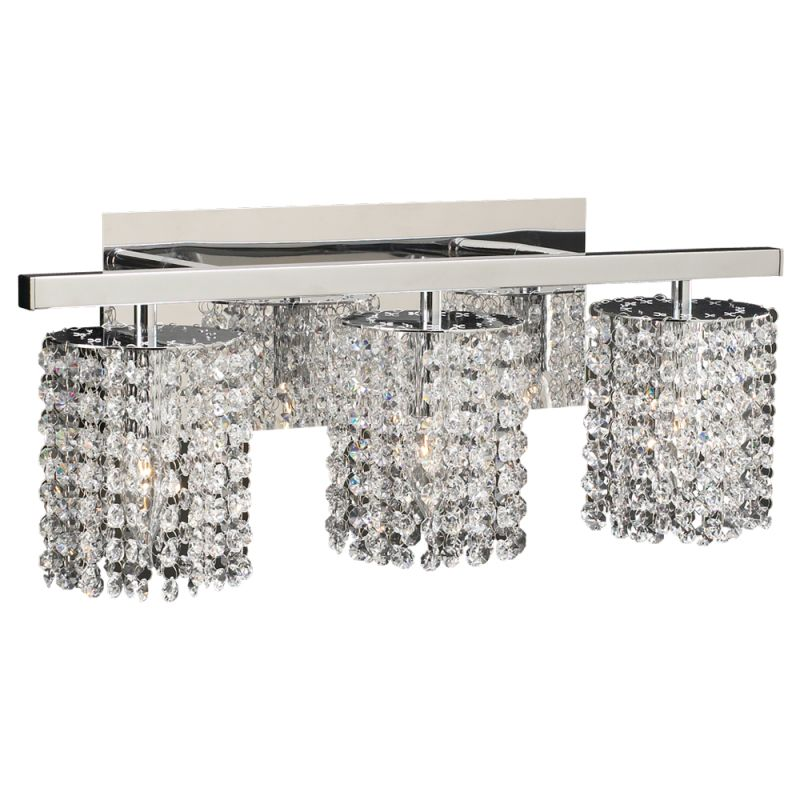 PLC Lighting 72194 PC Polished Chrome Three Light Crystal Bathroom Vanity  Light Fixture From The Rigga Collection   LightingDirect.com