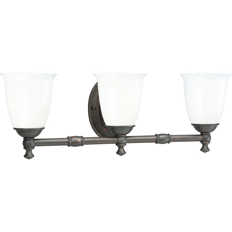 Bathroom Vanity Lights In Bronze progress lighting p3029-09 brushed nickel victorian 3 light