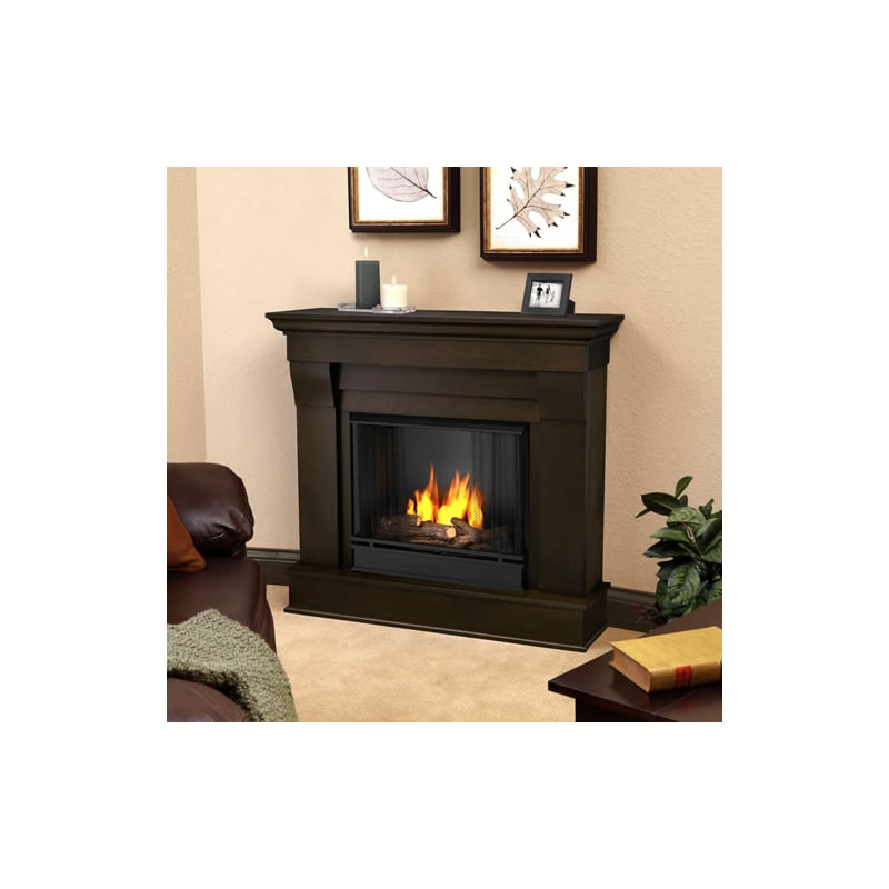 Fireplace Design real flame gel fireplace : Real Flame Chateau Gel Fireplace Mantel - 5910-W