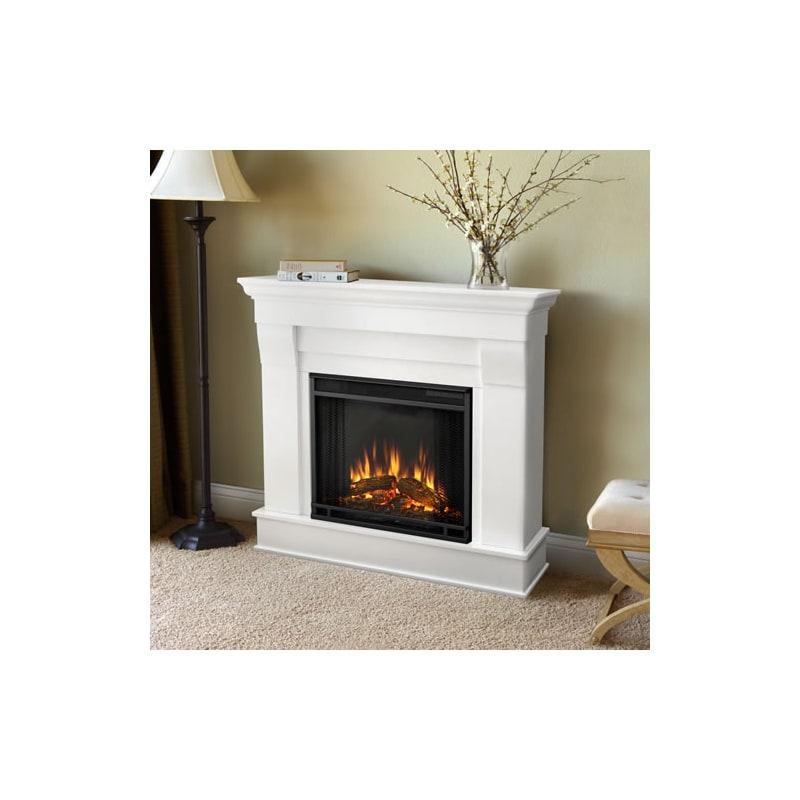 Real Flame Chateau Electric Fireplace Mantel - Dark Walnut - 5910E-DW