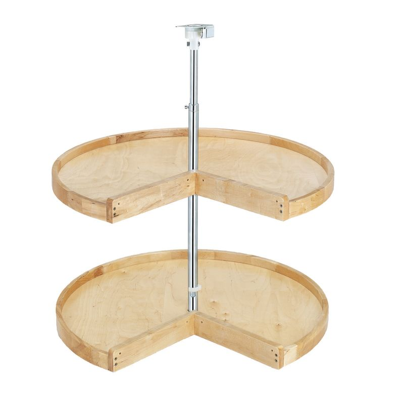 "Kitchen, Dining & Bar Generous Rev-a-shelf 4wls942-24-52 Wood Classic 24"" Diameter Pie-cut Shaped Two Shelf Laz We Take Customers As Our Gods"