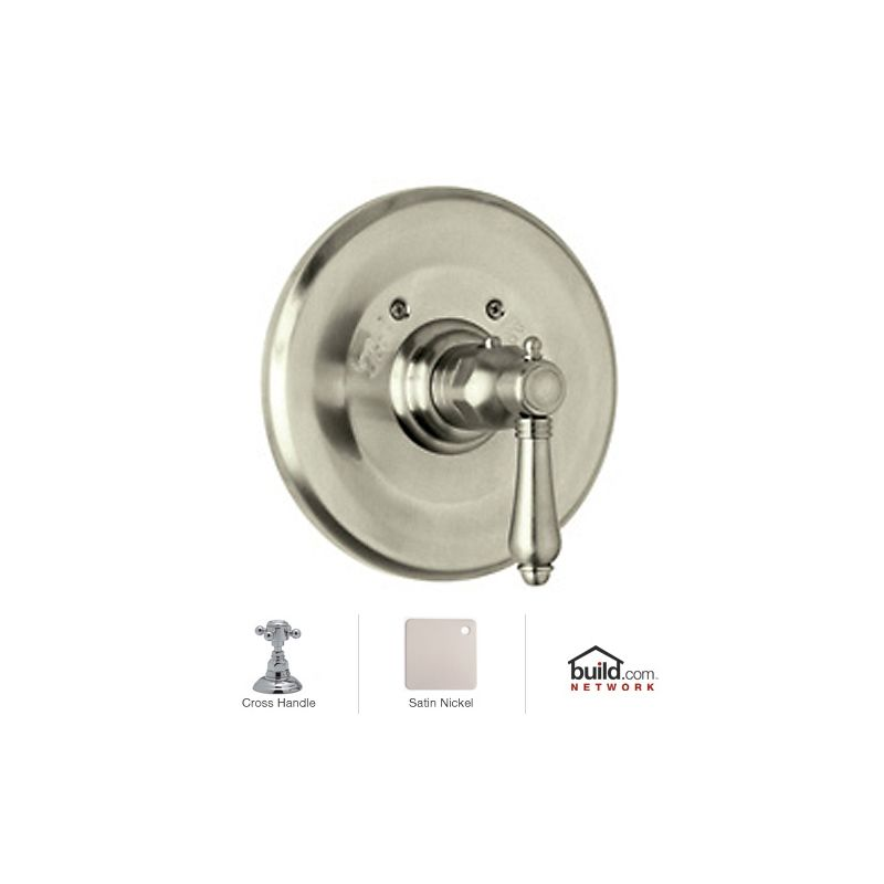 Beau Rohl A4914XMSTN Satin Nickel Country Bath Thermostatic Shower Valve Trim  (Trim Only) With Metal Cross Handle   Faucet.com