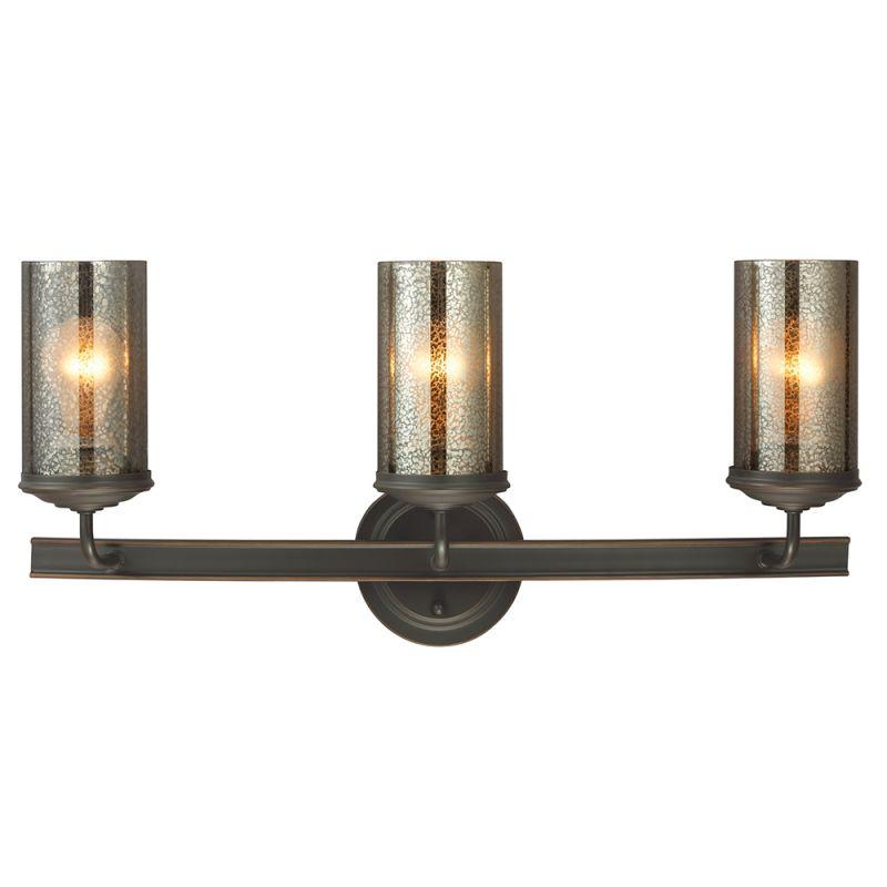 Sea Gull Lighting 4410403 715 Autumn Bronze Sfera 3 Light Bathroom Vanity With Mercury Glass Shade Lightingdirect Com