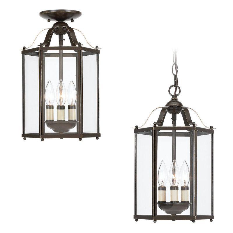 sea gull lighting 5231 786 oxford pewter bretton 3 light lantern