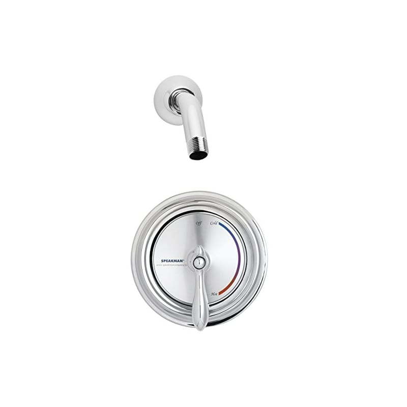 Speakman Sm 3010 Is Lh Polished Chrome Sentinel Mark Ii Pressure Balanced Shower Package With Integral Stops Less Shower Head Faucet Com