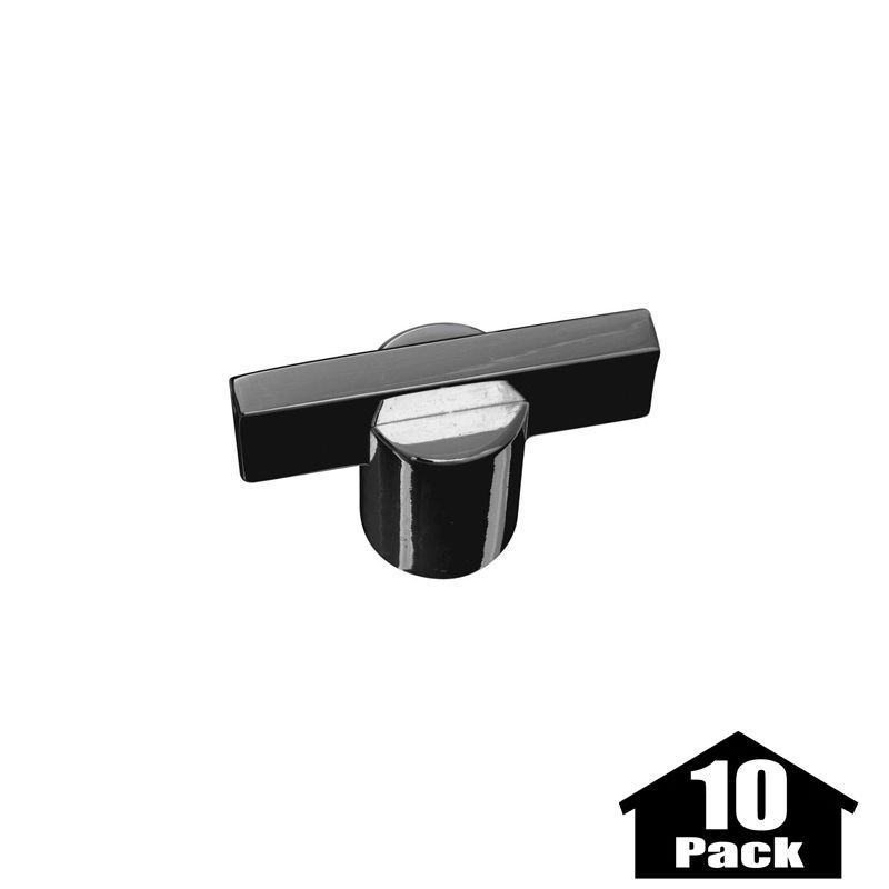 Stanley Home Designs BB8084BC 10PACK Black Chrome Meis 1 9/16 Inch Long Bar  Cabinet Knob   10 Pack   PullsDirect.com