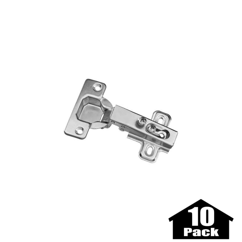 Stanley Home Designs BB8180PST 10PACK Zinc Plated 3.75 Inch Flush Self  Closing Concealed Cabinet Hinge   10 Pack   PullsDirect.com