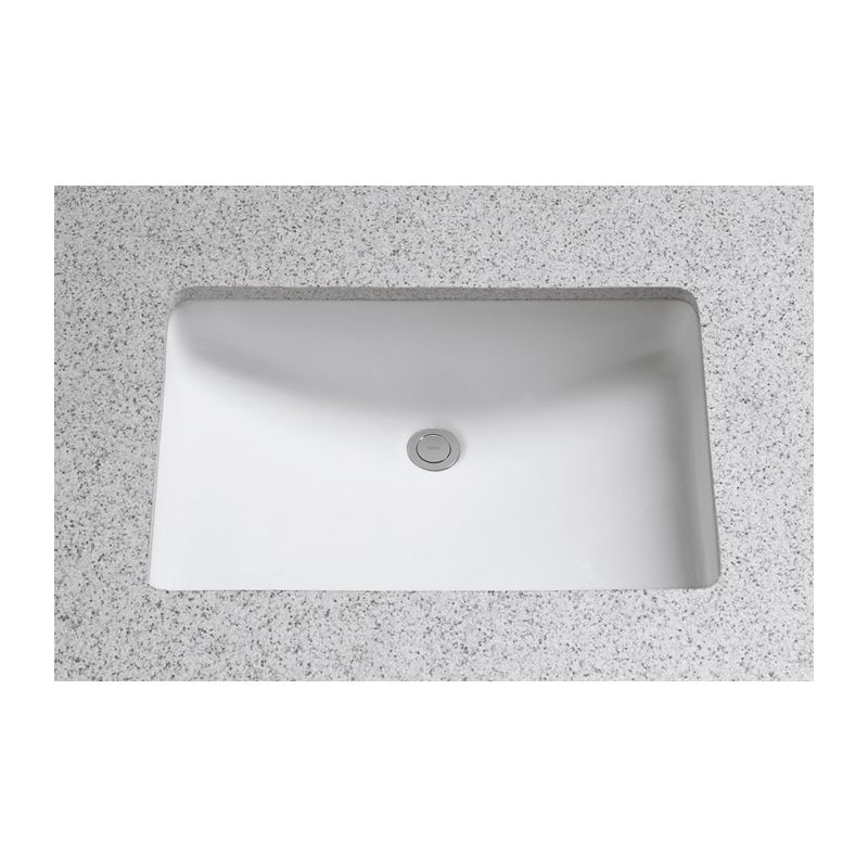 Toto Lt542g 01 Cotton 19 Undermount Bathroom Sink With Overflow And Cefiontect Ceramic Glaze Faucet