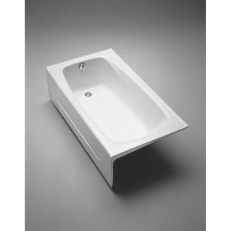 cotton foot cast iron three wall alcove soaking tub right hand drain lightweight home depot faucet rust removal