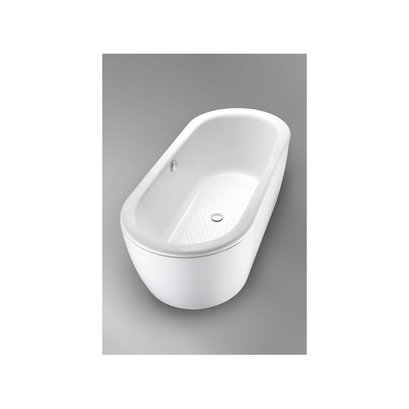 Toto FBF794S#01D Cotton Nexus Cast Iron Bathtub with Skirt and Drain ...