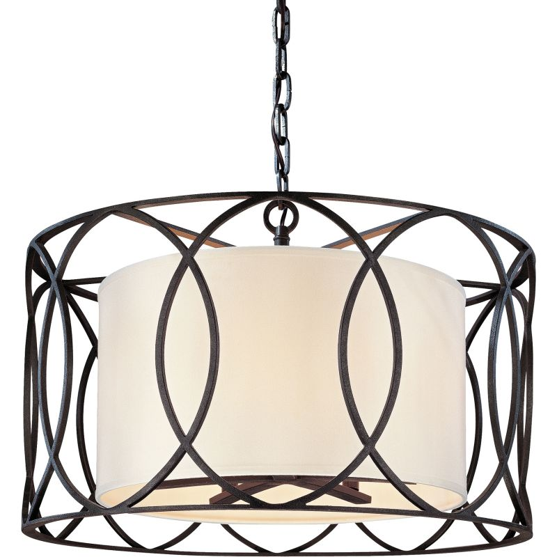 drum pendant lighting fixtures. troy lighting f1285sg silver gold sausalito 5 light drum pendant with fabric shade lightingdirectcom fixtures