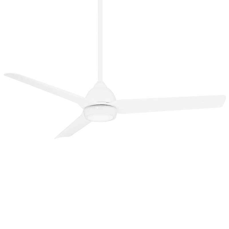 Wac Lighting F 001l Mw Matte White Mocha 54 Indoor Outdoor Smart Ceiling Fan With Led Light Kit And Remote Control Faucet Com