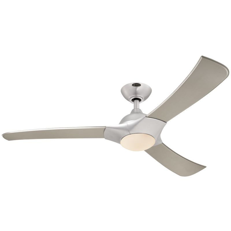 Westinghouse 7800200 Brushed Aluminum Techno 52 3 Blade Hanging Indoor Ceiling Fan With Blades Light Kit Remote And Down Rod Included Lightingdirect