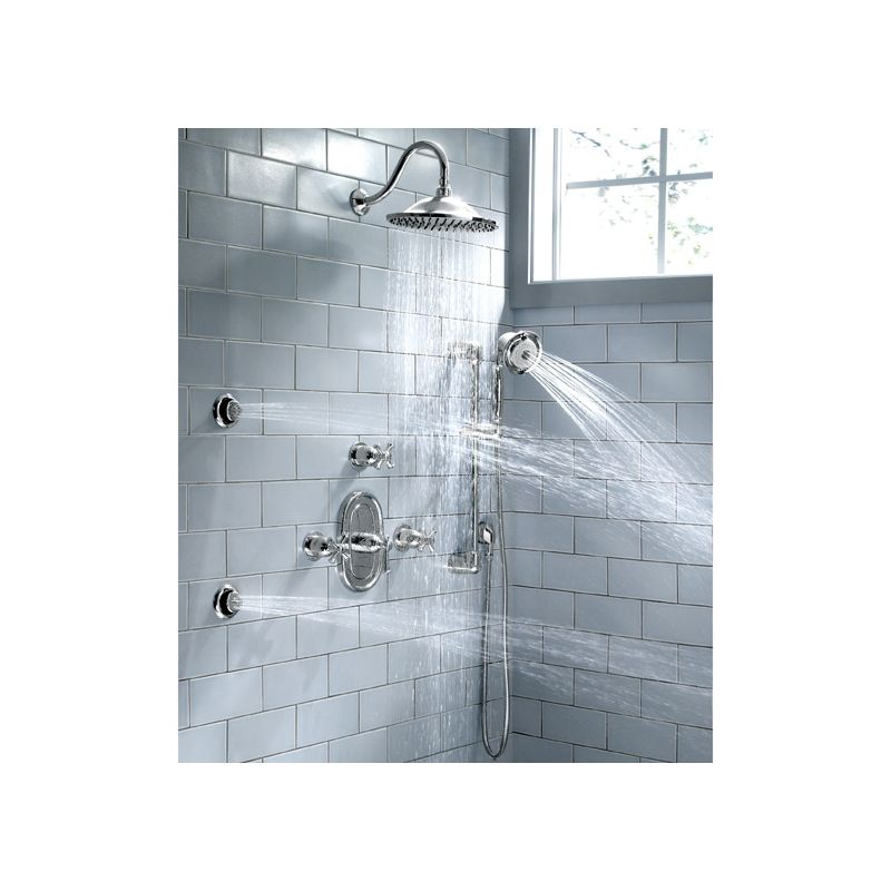 American Standard 1660 130 002 Chrome Extender 1 5 Gpm Multi Function Round Body Spray Faucet
