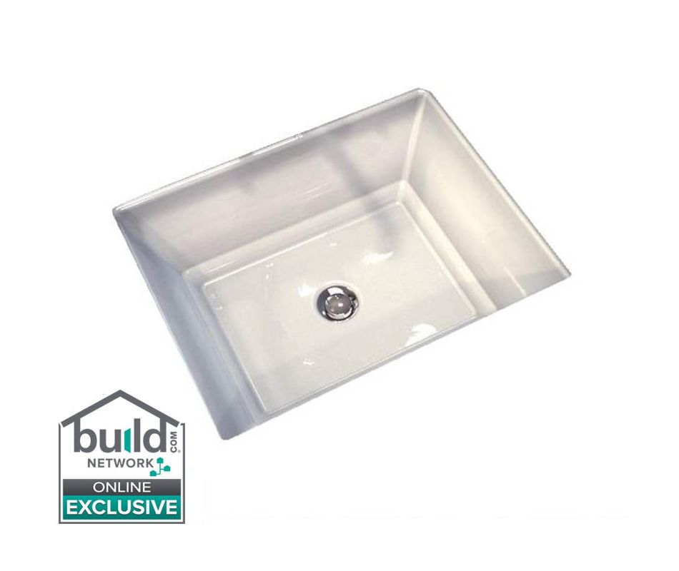 American Standard 0483 000 020 White Estate 19 3 4 Undermount Fireclay Bathroom Sink With Overflow Faucet