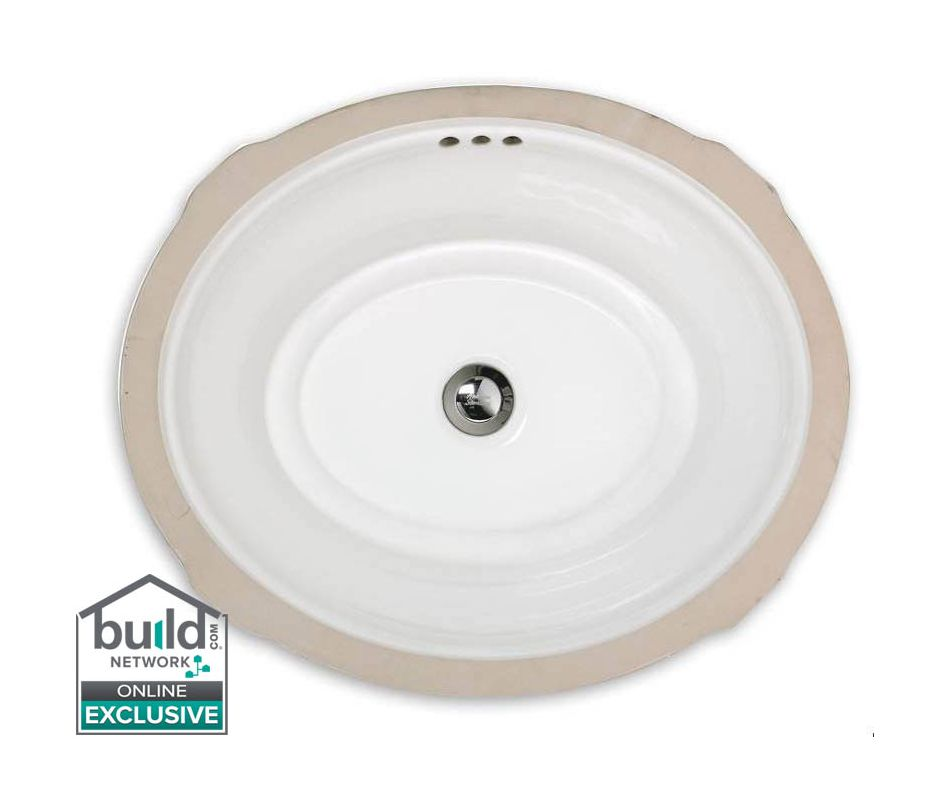 American Standard 0484 000 020 White Estate 19 1 8 Undermount Fireclay Bathroom Sink With Overflow Faucet