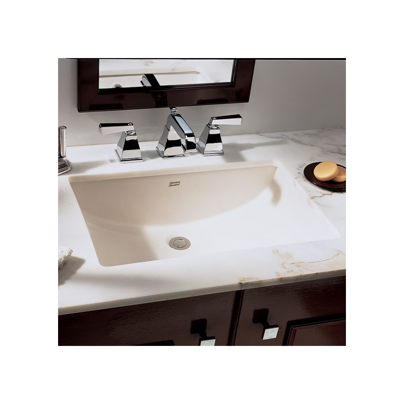 American Standard 0614 000 020 White Studio 18 1 4 Undermount Porcelain Bathroom Sink Faucet