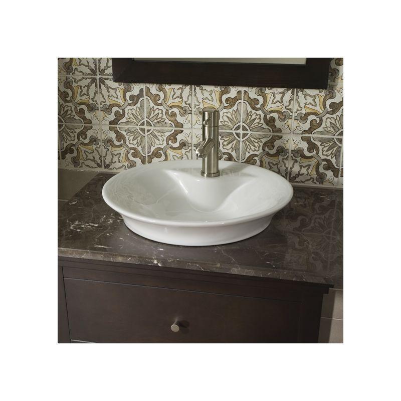 "American Standard 0670.000.020 Morning 17-3//4/"" Vessel Porcelain Bathroom Sink"