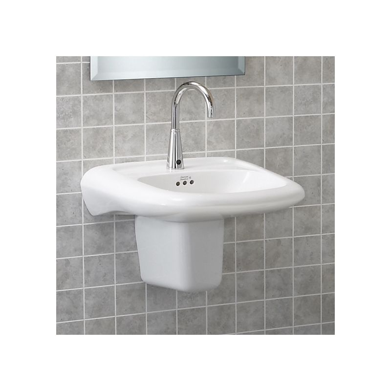 American Standard EC White Murro Wall Mounted - Commercial wall mounted bathroom sinks