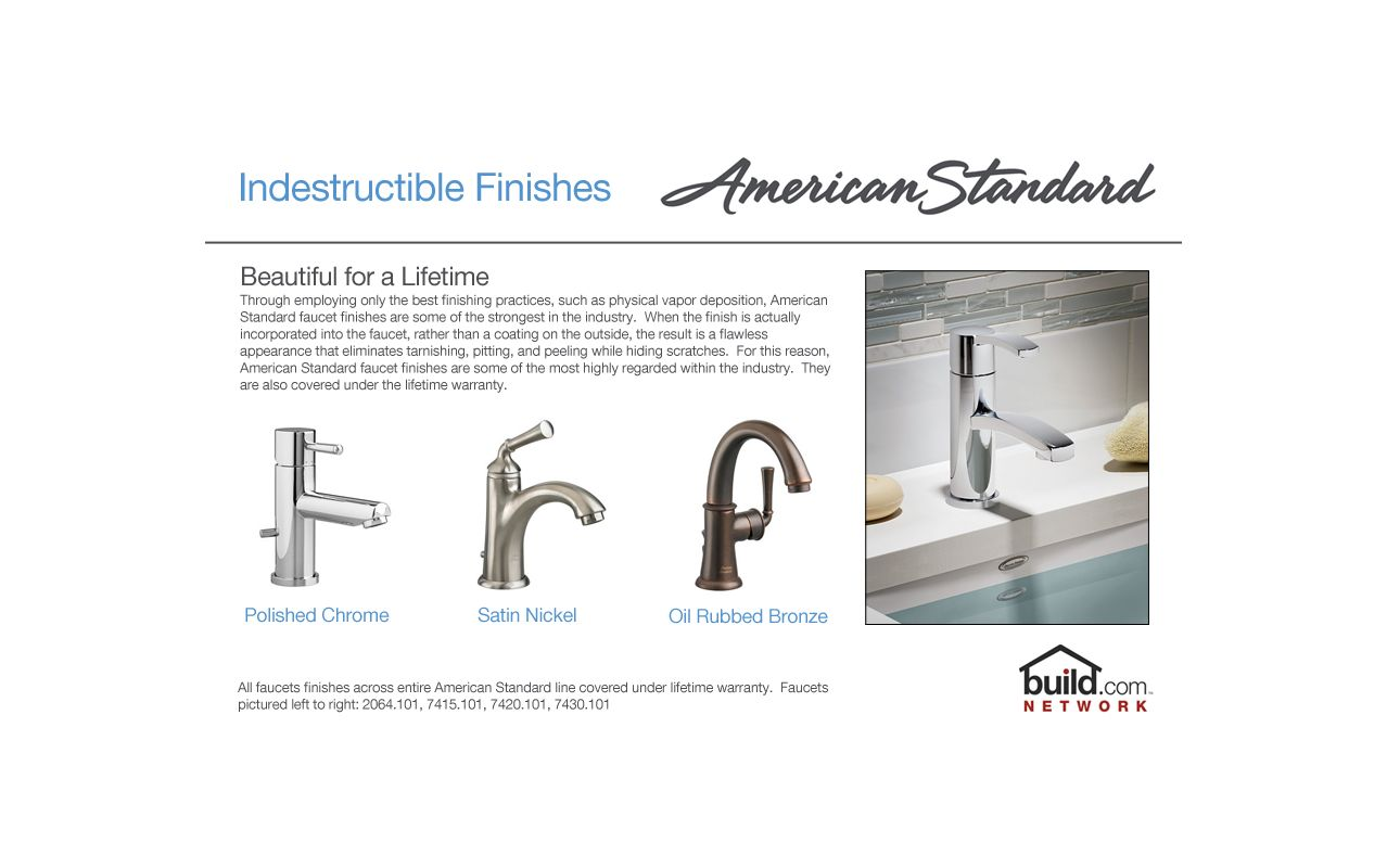 American Standard 2064.801.002 Polished Chrome Serin Widespread ...