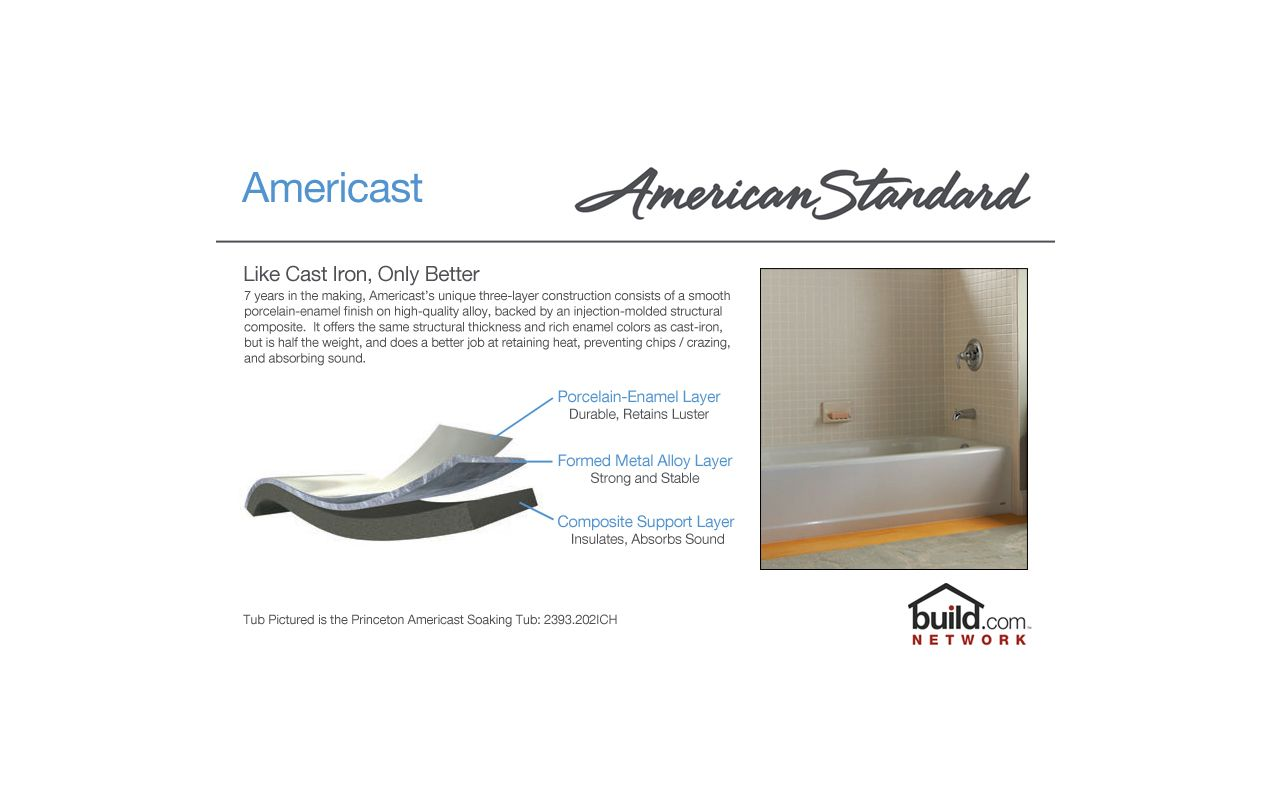 American Standard 2390.202ICH.020 White Princeton 60\