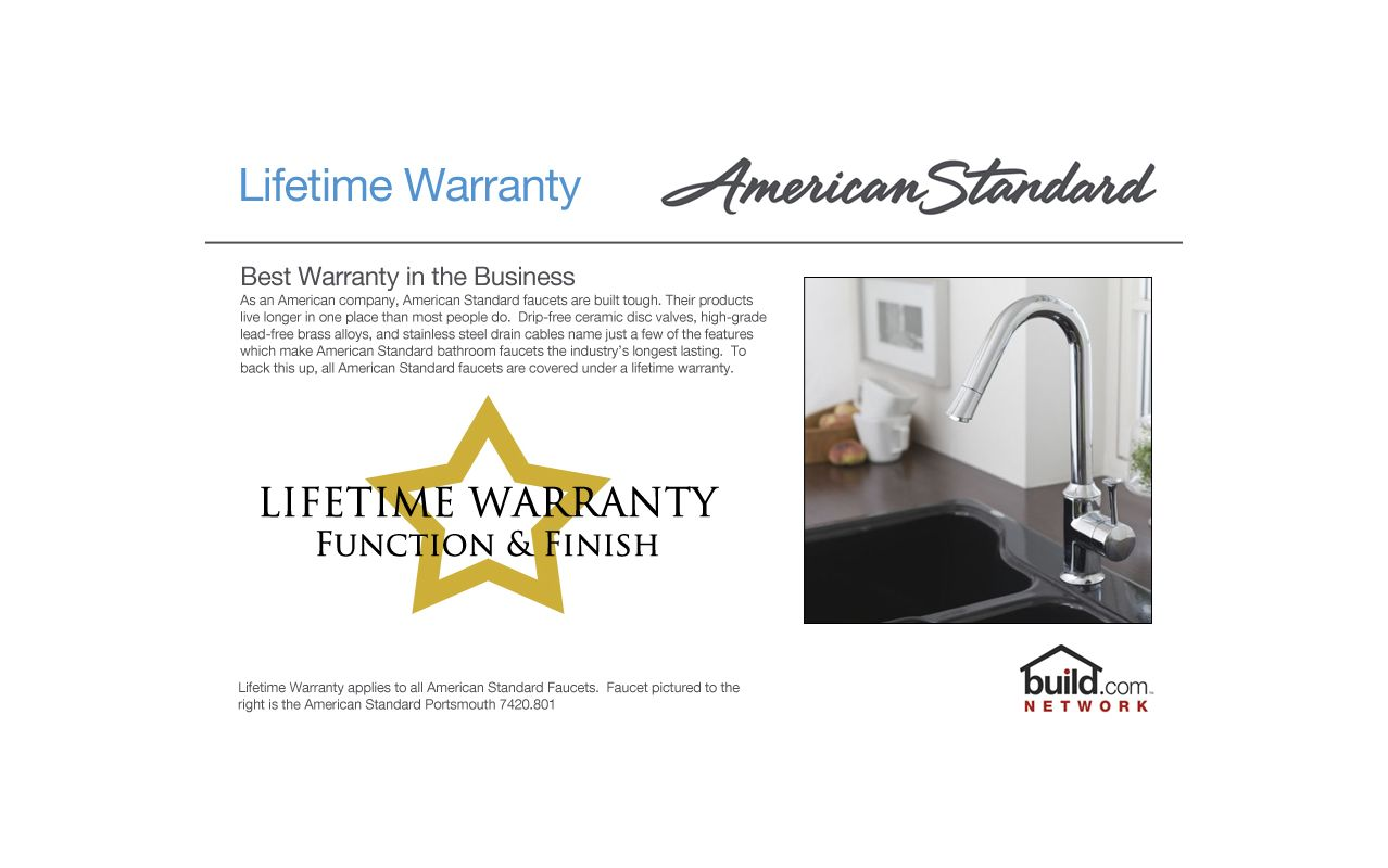 American Standard 2475.500.002 Chrome Colony Soft Bar / Prep Faucet ...