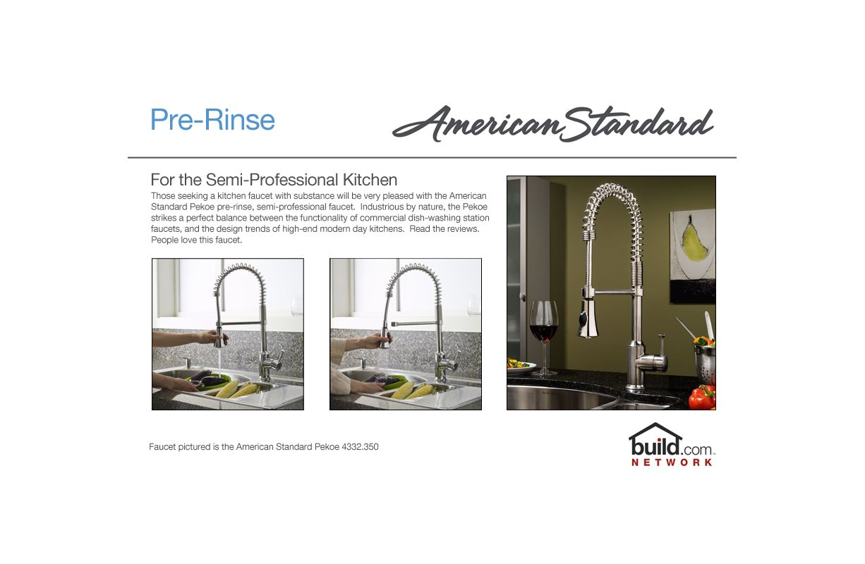 American Standard 4332.350.002 Polished Chrome Pekoe Semi ...