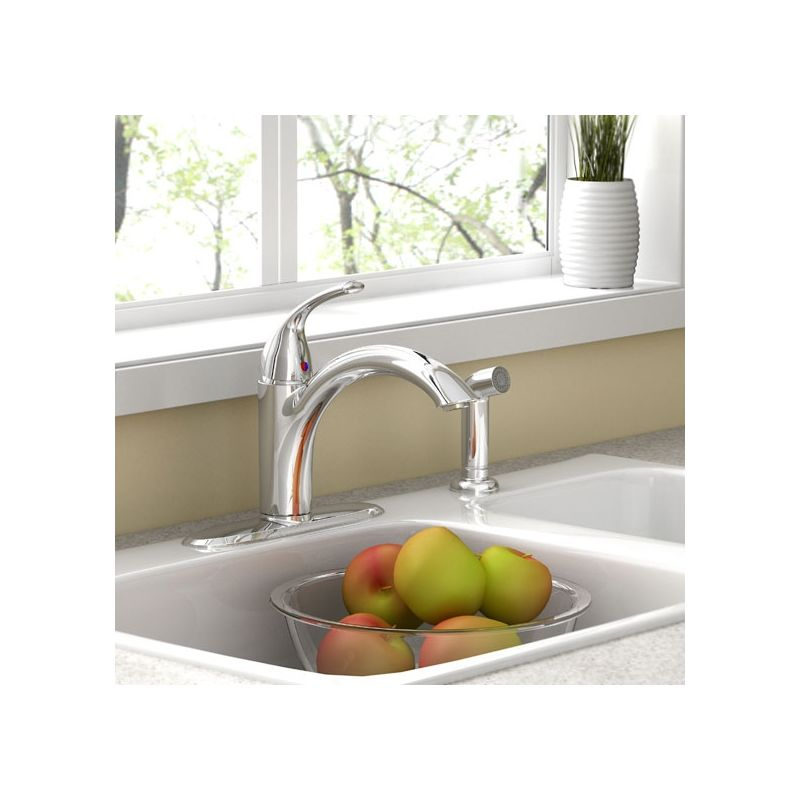 American Standard 4433001.002 Polished Chrome Quince Kitchen Faucet ...