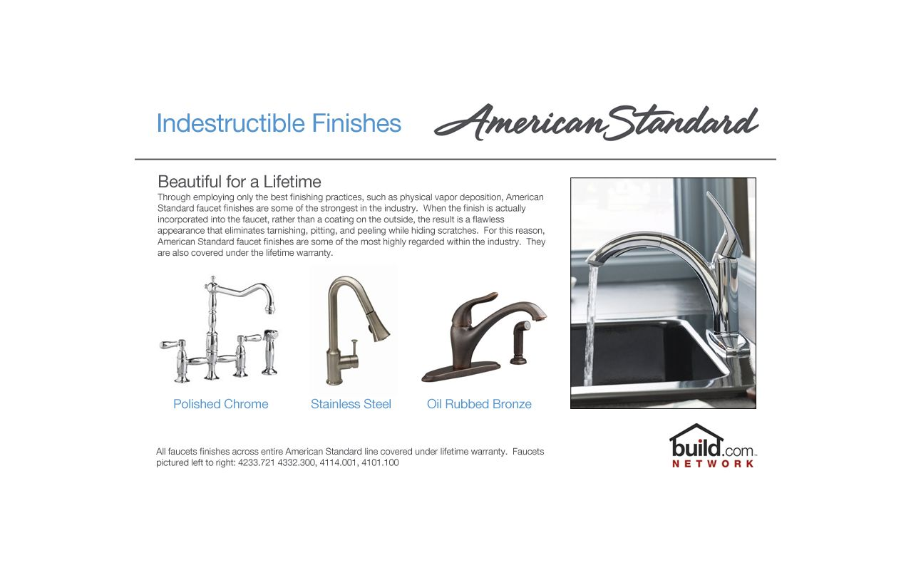 American Standard 4771.732.002 Chrome Hampton Kitchen Faucet With Side  Spray And Cover Plate   Faucet.com