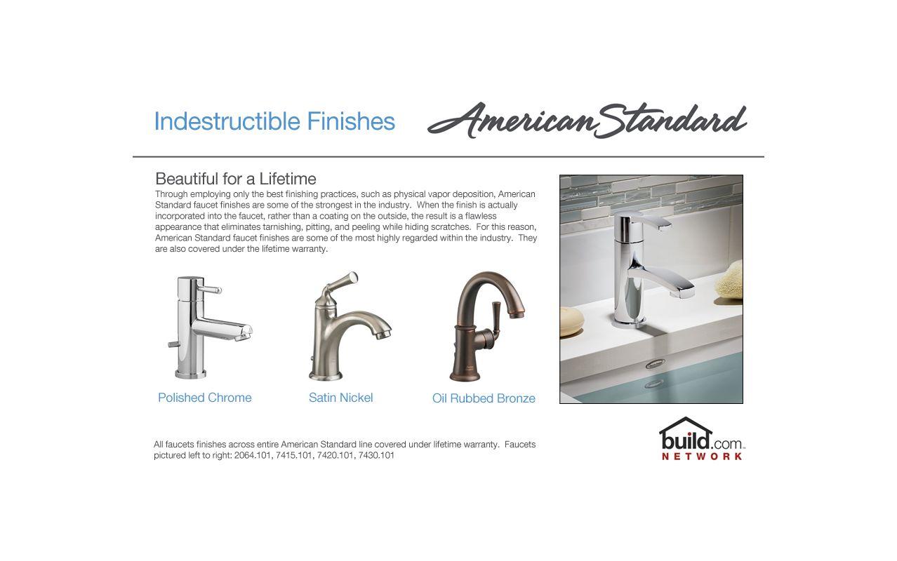 American Standard 7010.201.075 Stainless Steel Green Tea Centerset ...