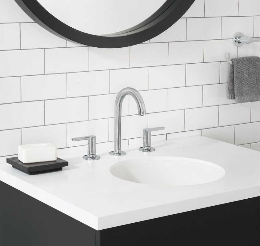 American Standard 7105801.002 Chrome Studio S 1.2 GPM Widespread Bathroom  Faucet With Speed Connect®   Includes Metal Pop Up Drain Assembly    Faucet.com