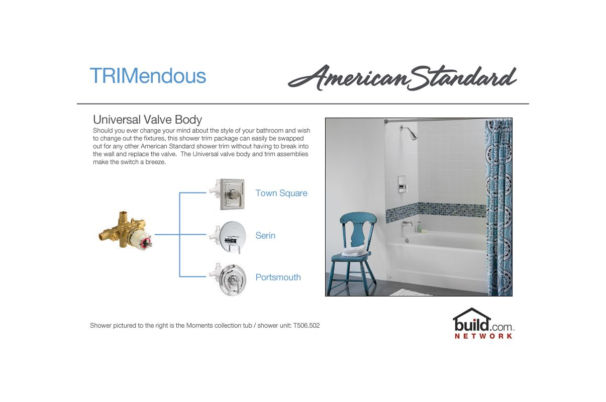 American Standard T430.501.295 Satin Nickel Berwick Shower Trim ...