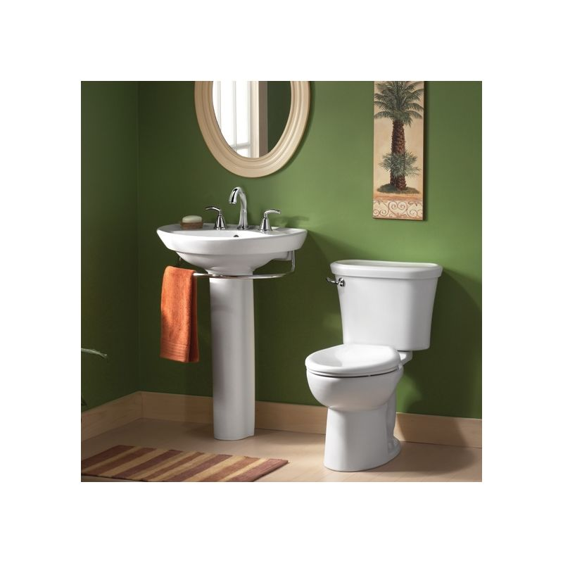 American Standard 0268004020 White Ravenna Pedestal Sink Only With
