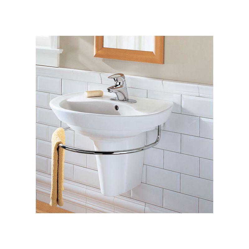 American Standard 0268 144 020 White Ravenna Pedestal Bathroom Sink