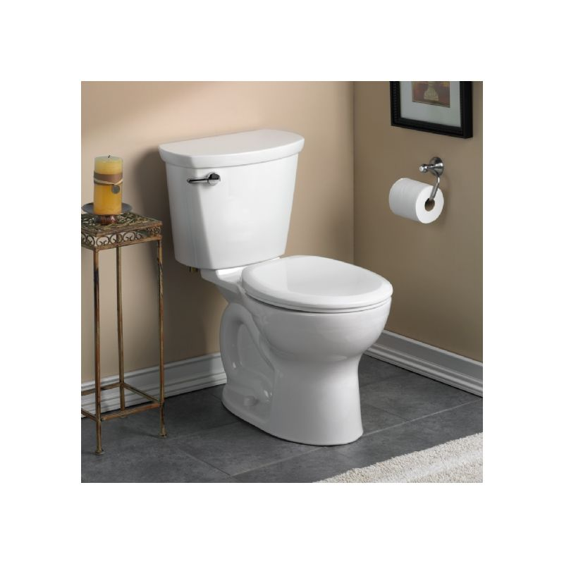 American Standard 3517D.101.020 White Cadet Pro 1.28 GPF Round Front Toilet  Bowl Only With EverClean Surface And PowerWash Rim   Faucet.com