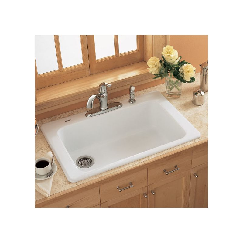 American Standard 7193 804 345 Bisque Single Basin Americast