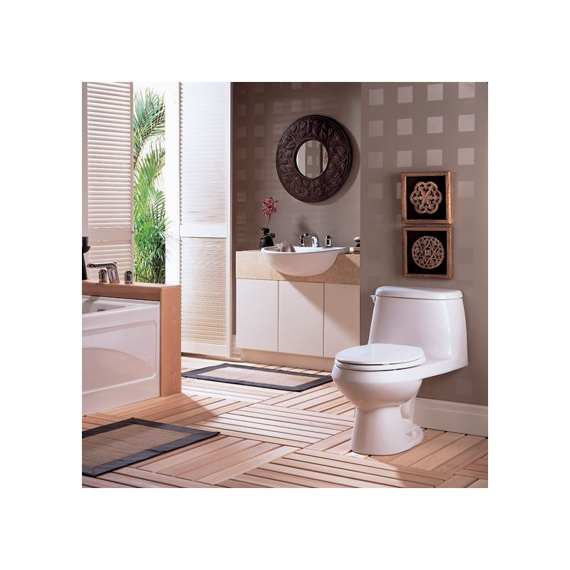 American Standard 9960 070 020 White Mezzo Drop In Bathroom Sink With Single Faucet Hole 19 Length And Overflow