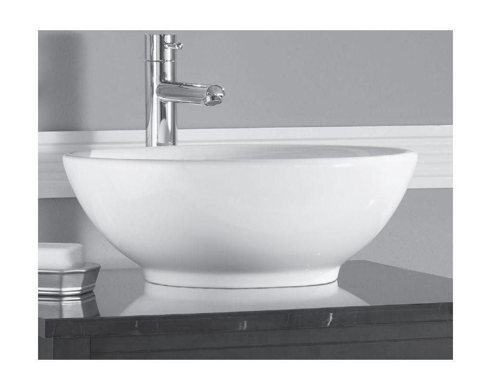 Standard bathroom sink - American Standard 0960 900 020 White Palisade 17 Round Vessel Bathroom Sink Faucet Com
