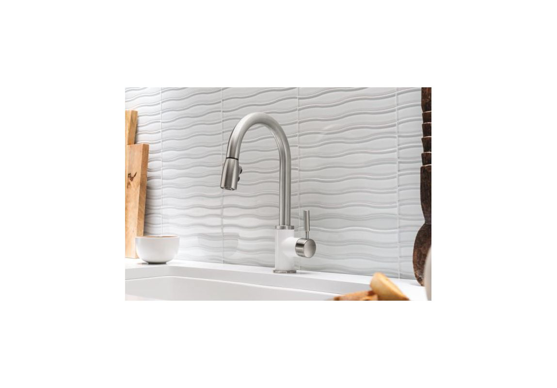 Blanco 442068 Stainless Steel / White Sonoma Kitchen Faucet - Faucet.com