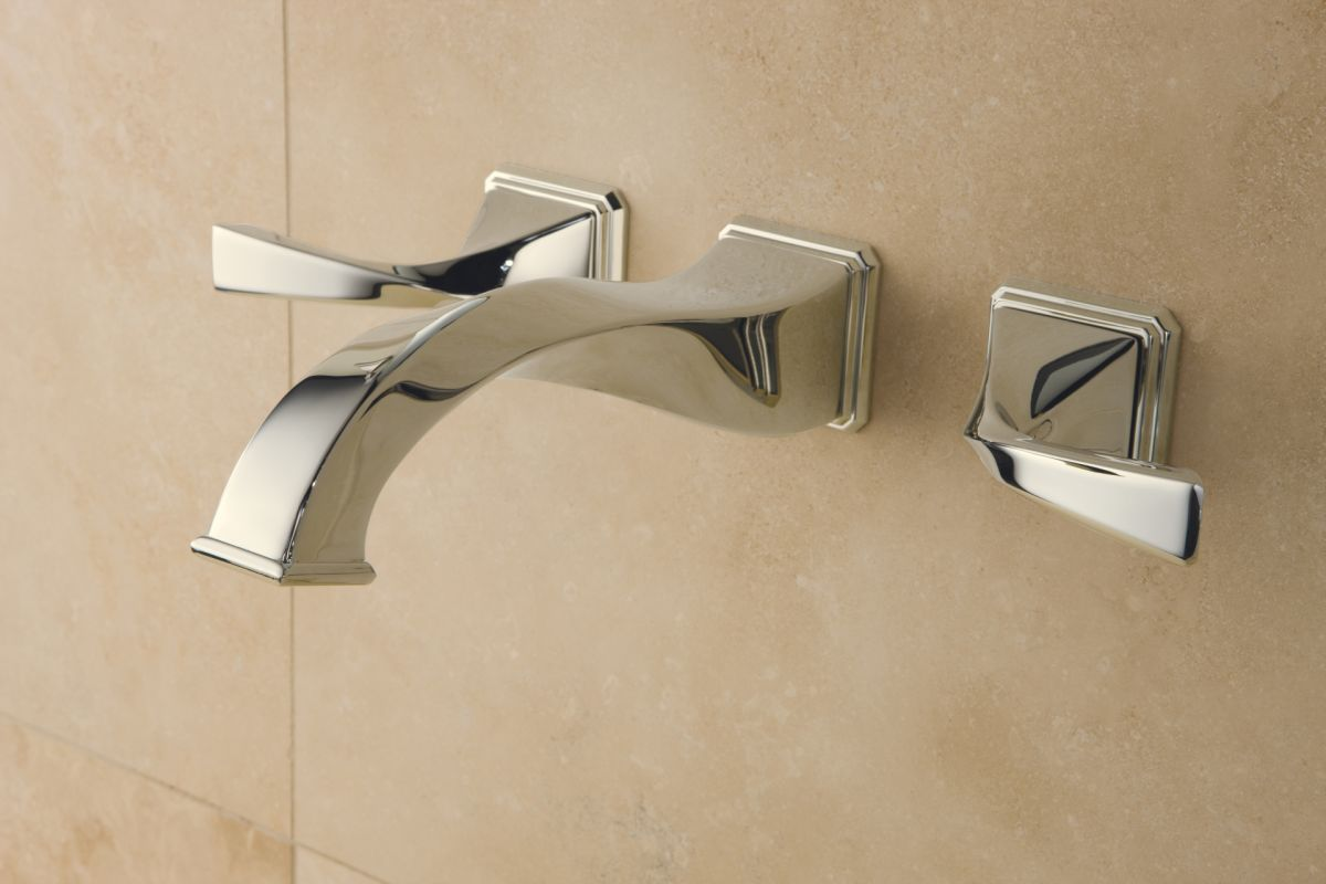 Brizo 65830LF-PN Brilliance Polished Nickel Virage 1.5 GPM Wall Mounted Bathroom Faucet with Grid Drain Assembly - Faucet.com