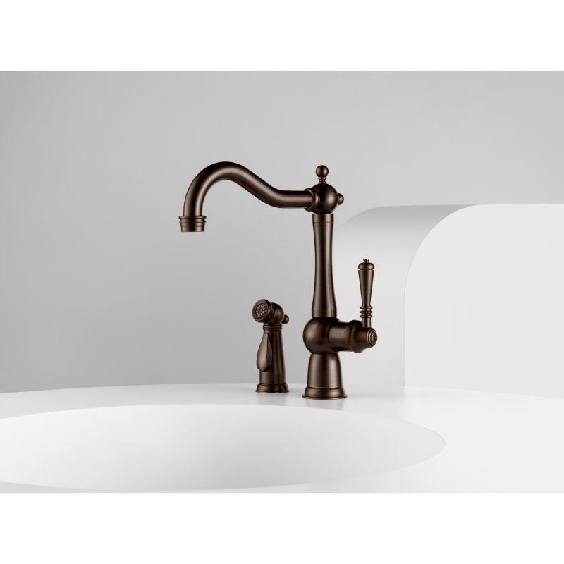 Brizo 61136LF-PC Chrome Tresa Kitchen Faucet with Side Spray ...