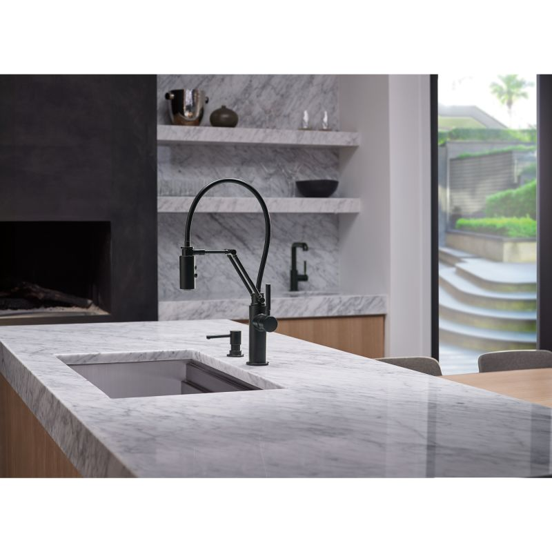 Brizo 63221LF-PC Chrome Solna Pull-Down Articulating Kitchen Faucet ...